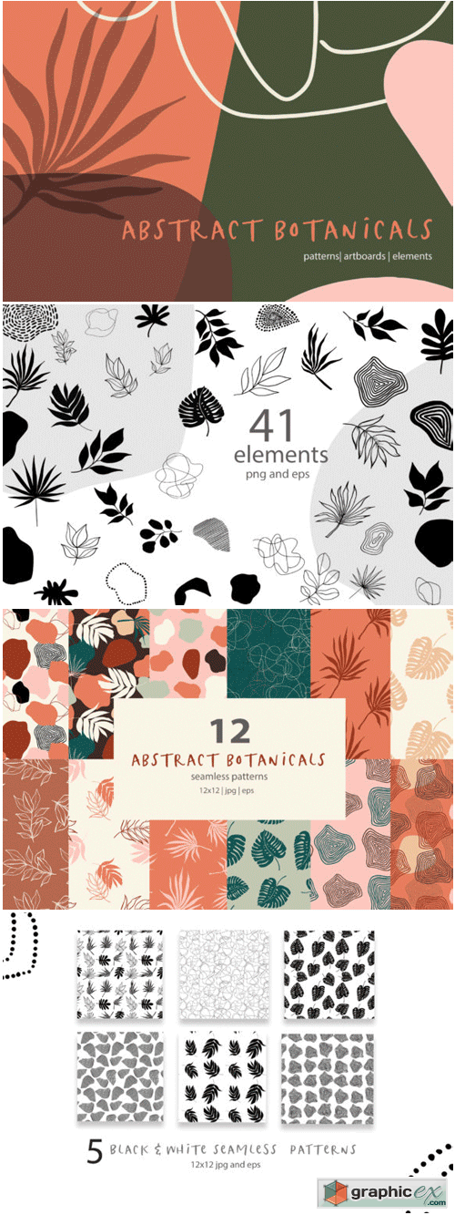 Abstract Botanical Patterns » Free Download Vector Stock