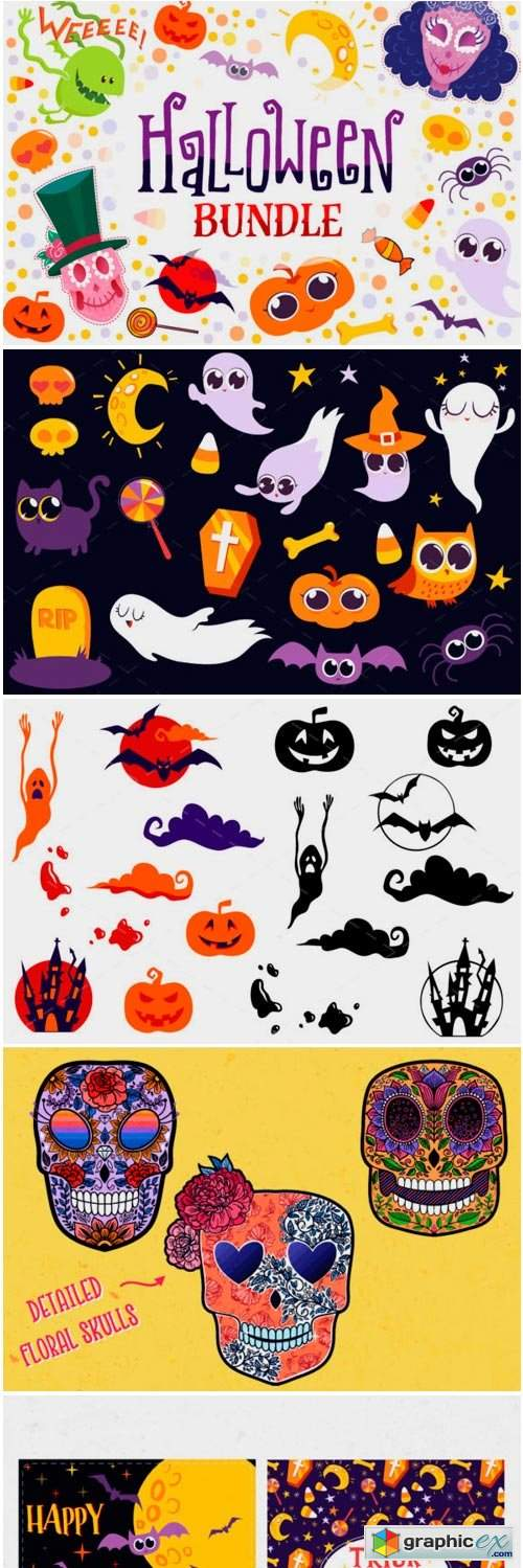 Halloween Bundle - 90 Elements