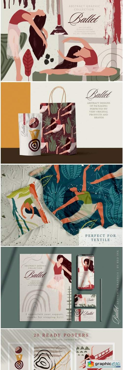 Ballet Abstract Graphic Bundle