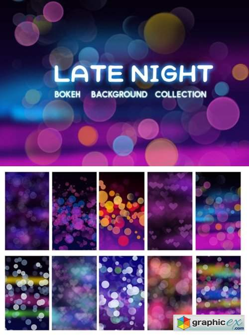 Late Night Bokeh Background Collection