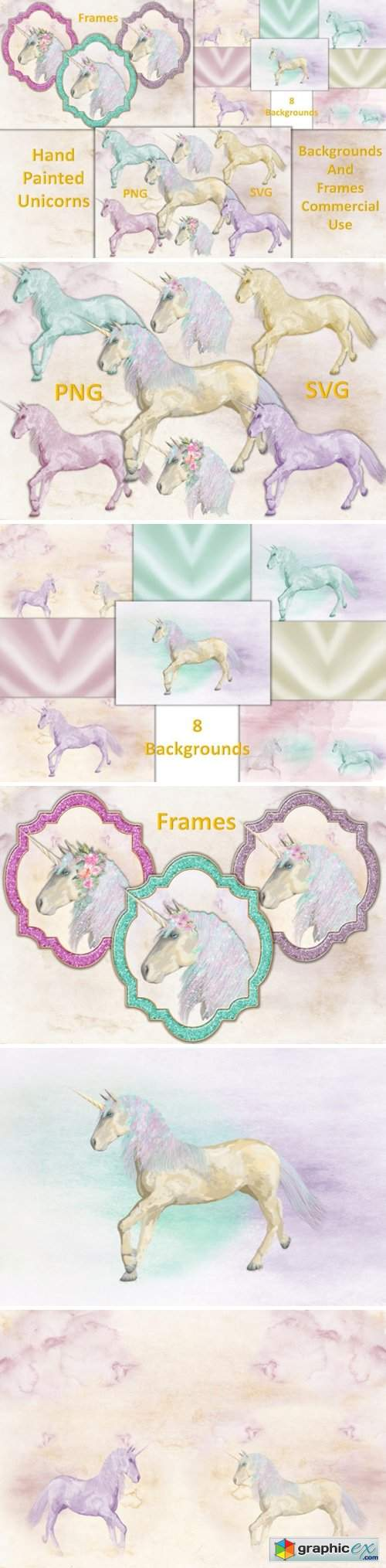Unicorn Clipart and Backgrounds