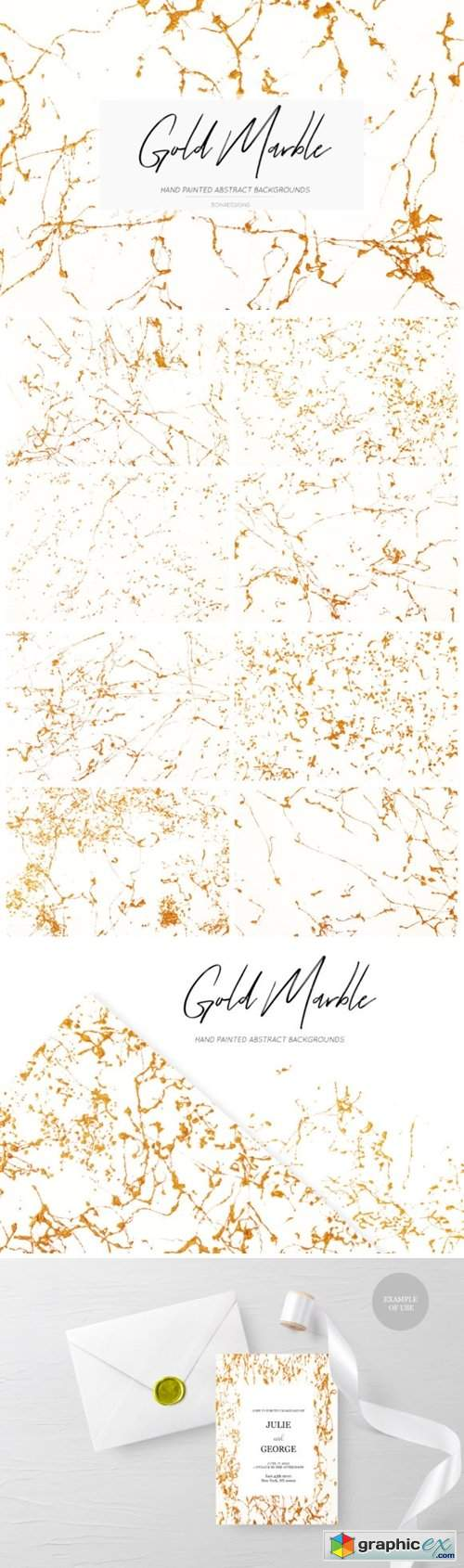 Gold Abstract Marble Backgrounds