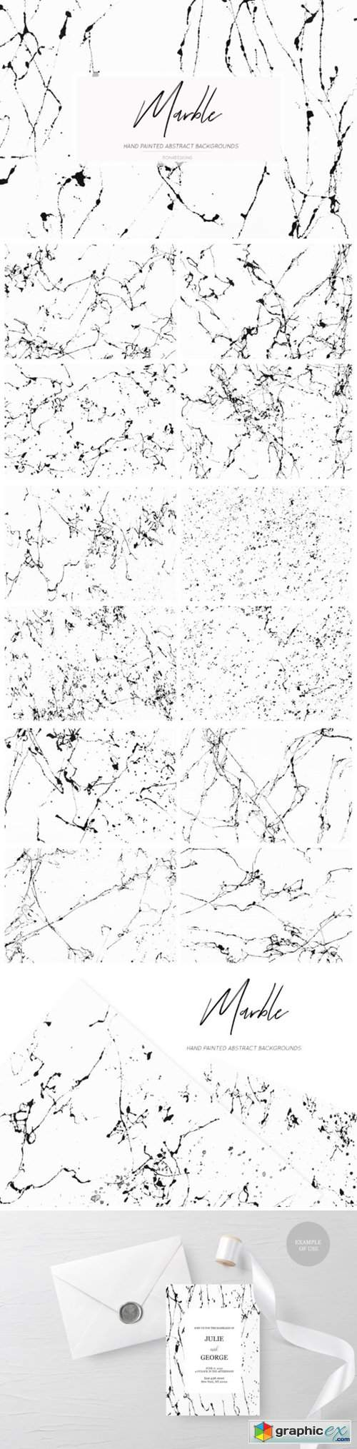 Black White Marble Backgrounds