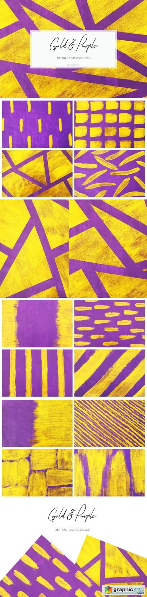 Gold Purple Backgrounds