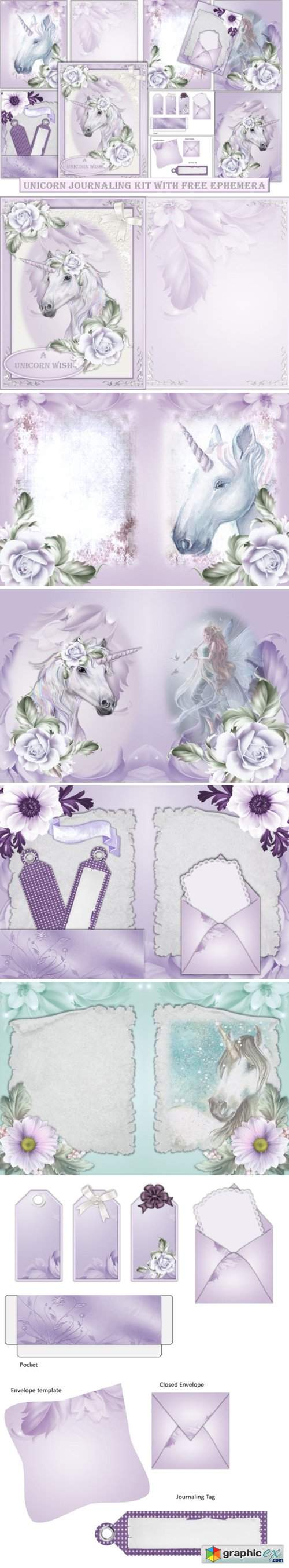 Unicorn Backgrounds with Clipart
