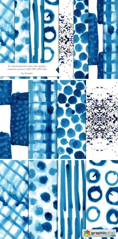 Abstract Watercolor Background Indigo