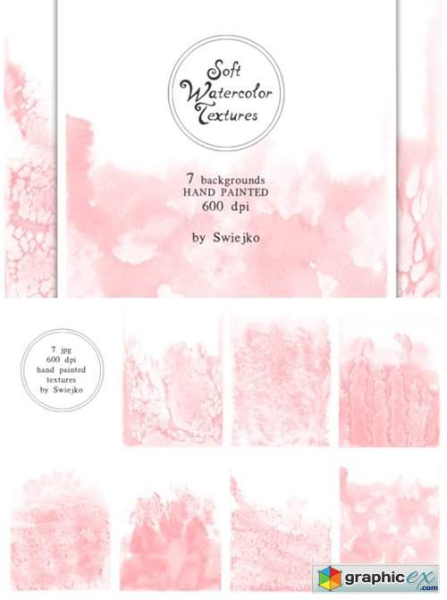 Soft Romantic Watercolor Background