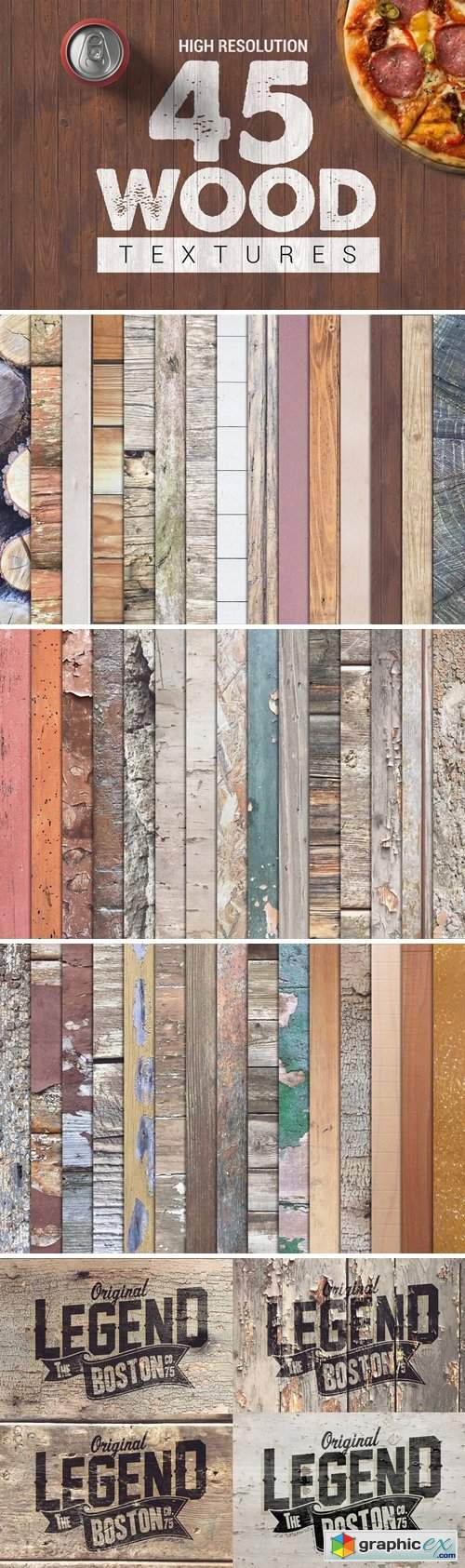 Bundle Wood Textures Vol1 x45