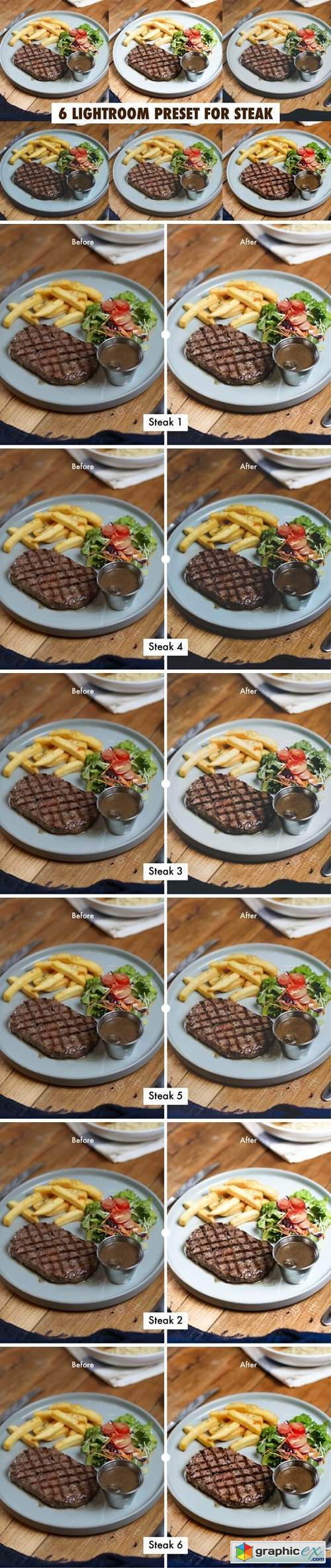 6 Lightroom Preset for Steak