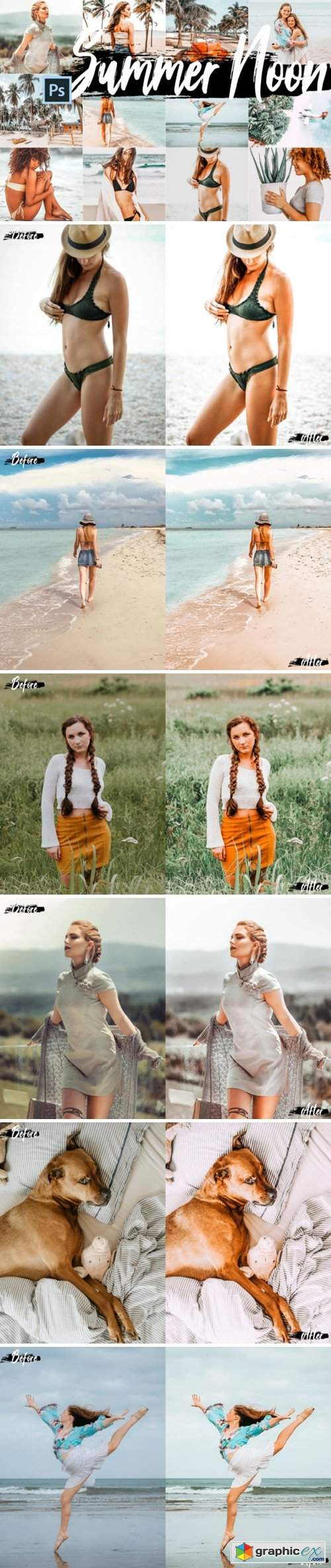 5 Summer Noon Photoshop Actions
