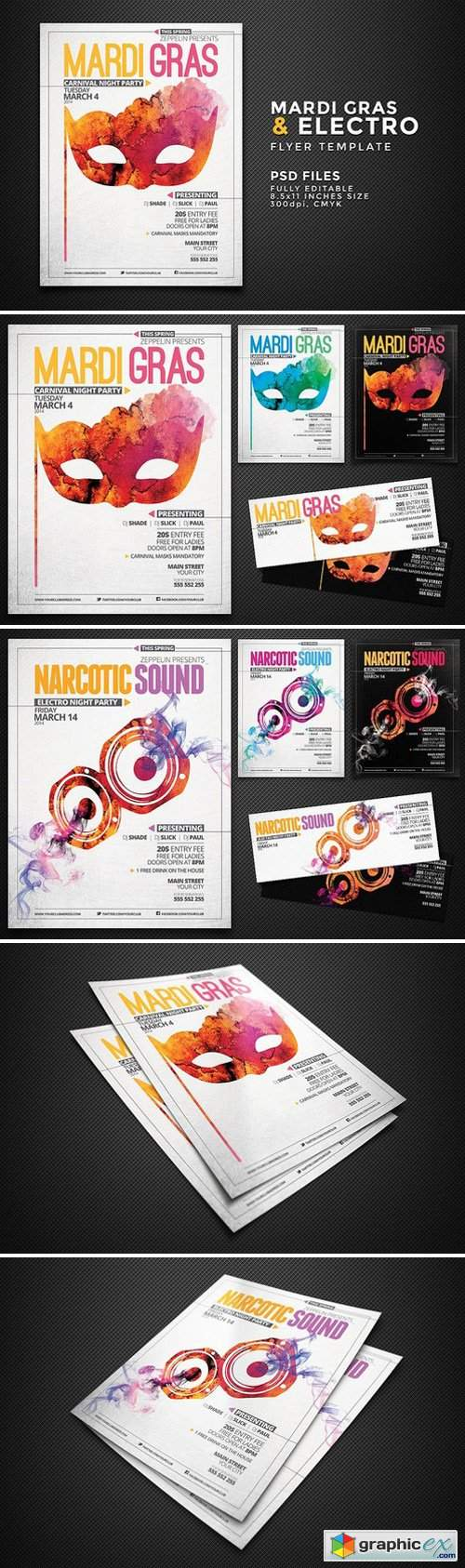 Mardi Gras and Other Events Flyer Template