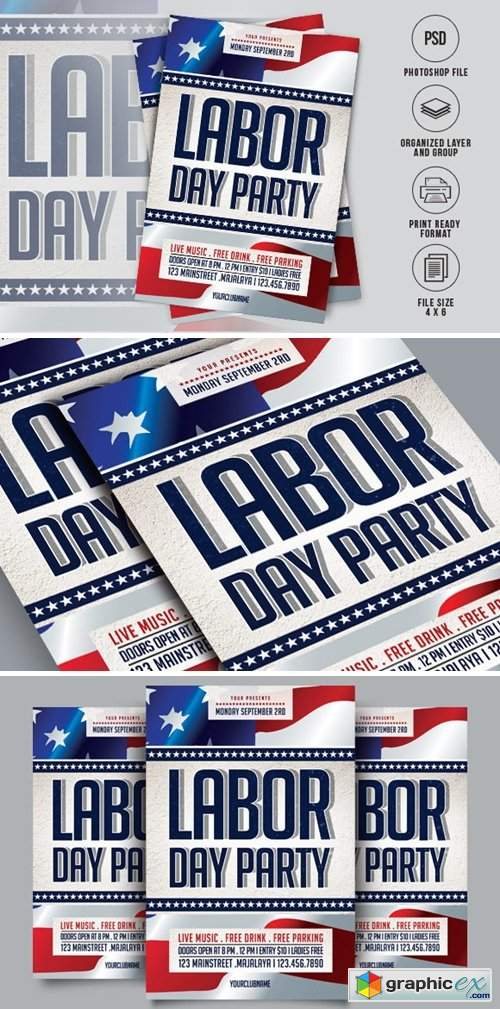 Labor Day Flyer 1736272