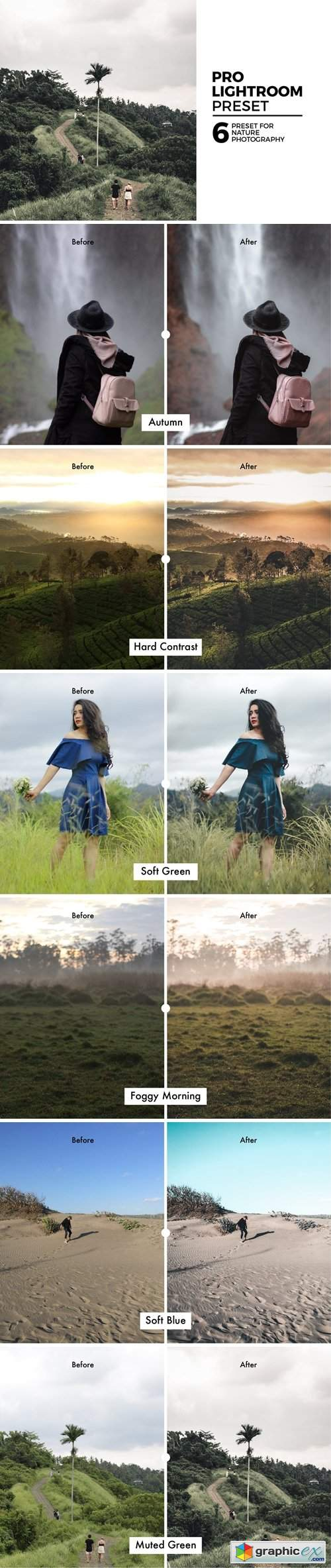 6 Nature Lightroom Preset