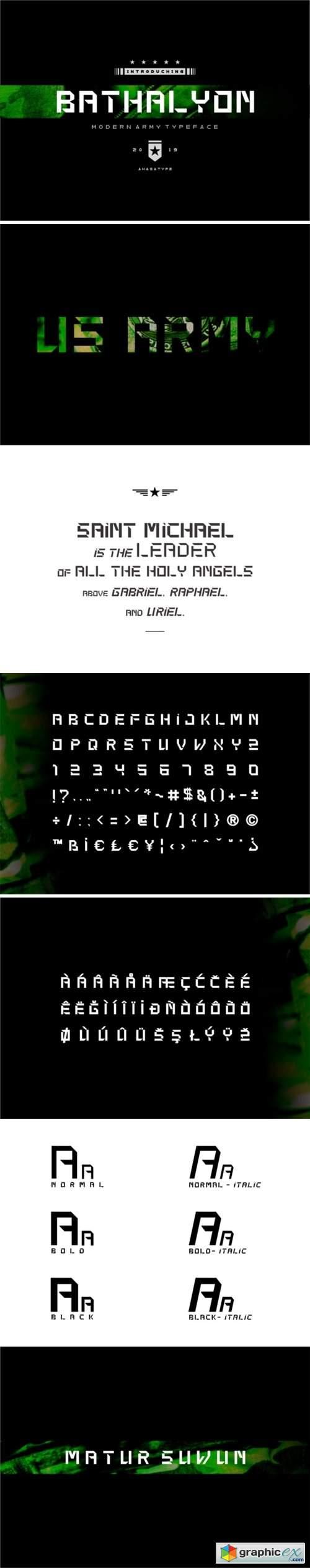 Bathalyon Army Font