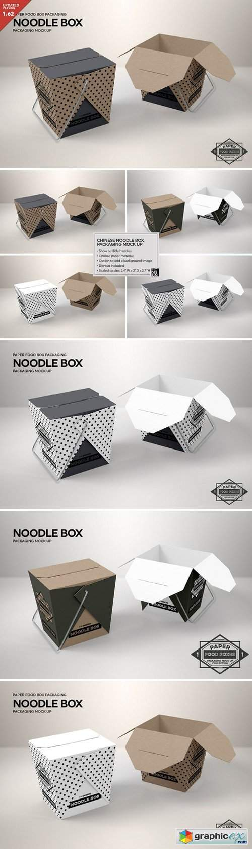 Noodle Box Packaging Mockup