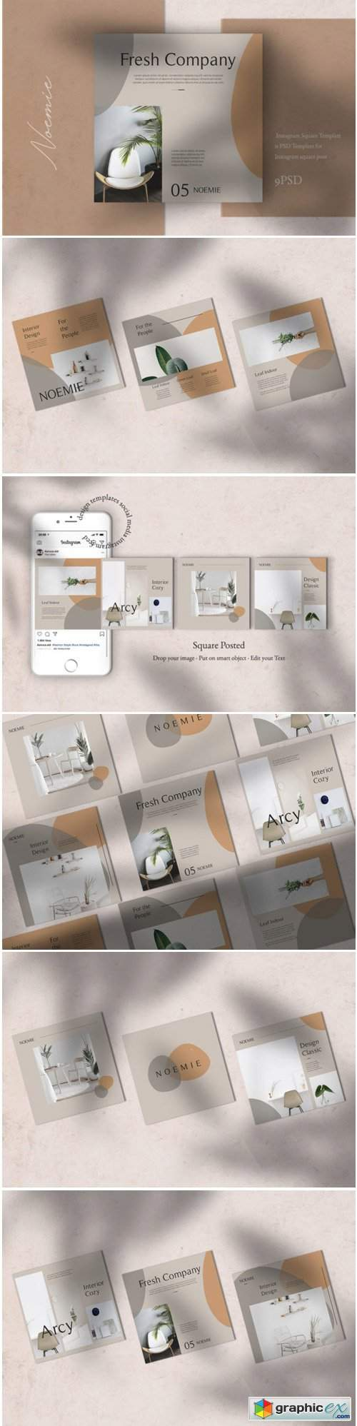 Interior Instagram Templates