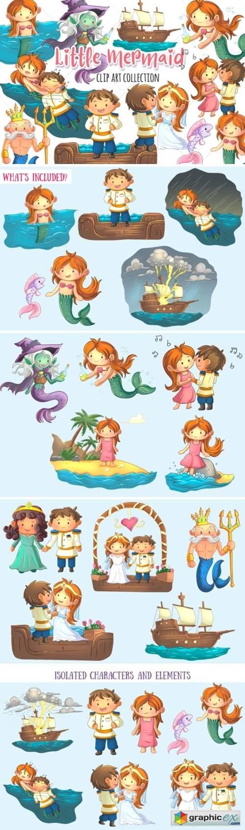 Little Mermaid Clip Art Collection