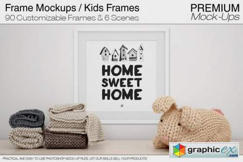 InkyDeals Kids Collection: 85 Projects, 390+ PSD Mock-Ups