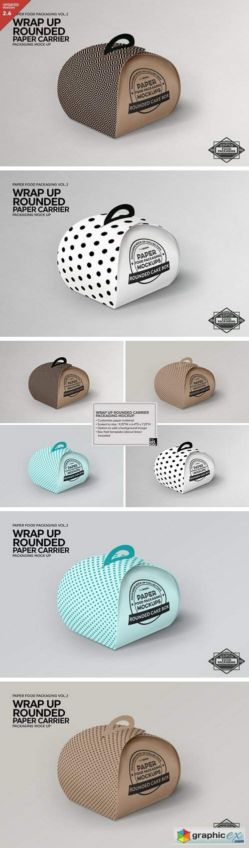 WrapUp Cake Carrier Packaging Mockup