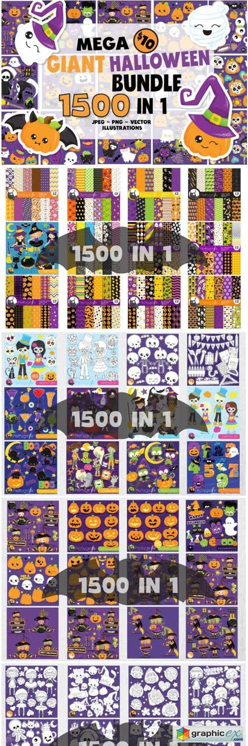 1500 Graphic Mega Halloween Bundle