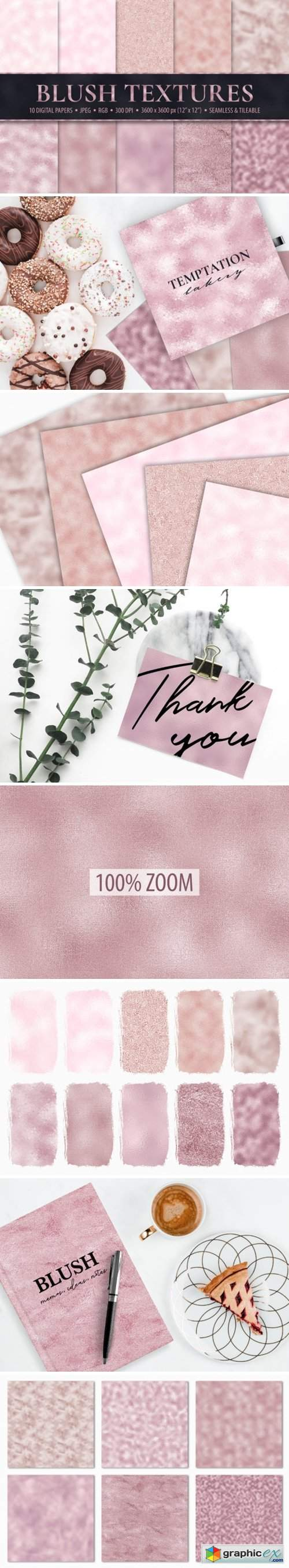 10 Seamless Blush Pink Foil Textures » Free Download Vector
