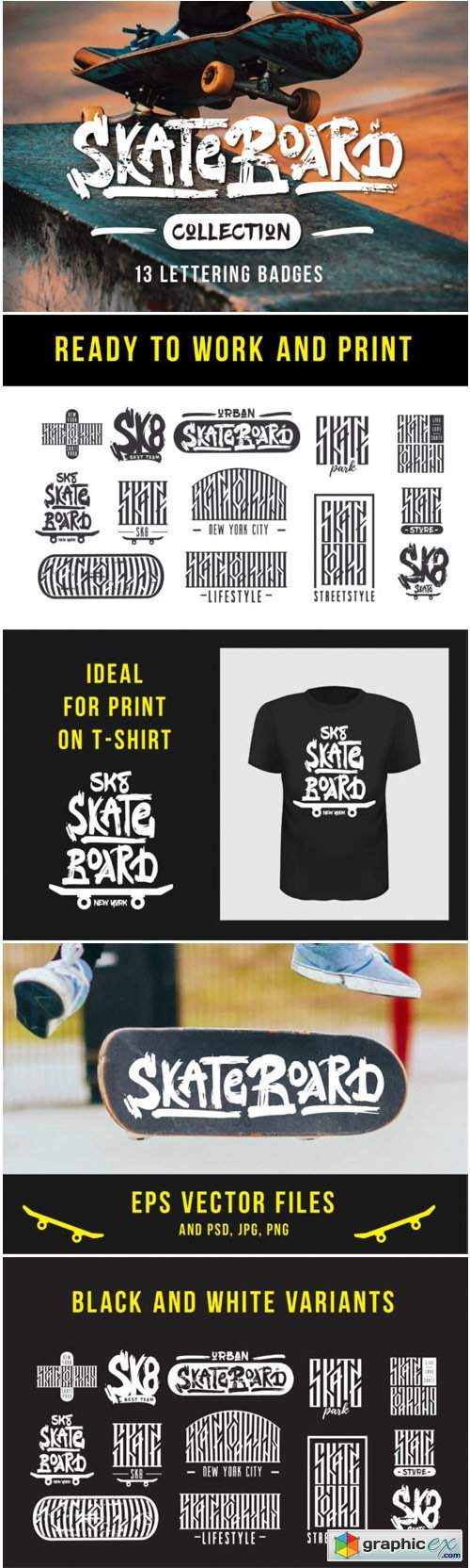 Skateboarding T-shirt Design