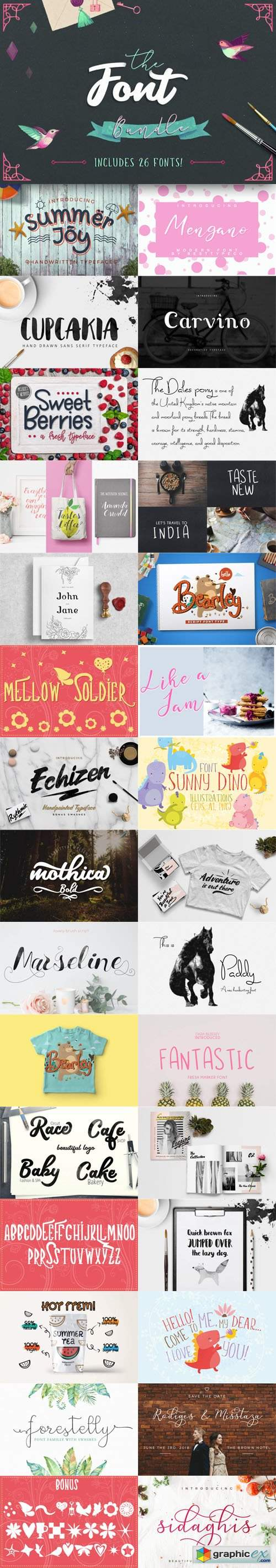 TheHungryJPEG - The Font Bundle (Worth $104!)