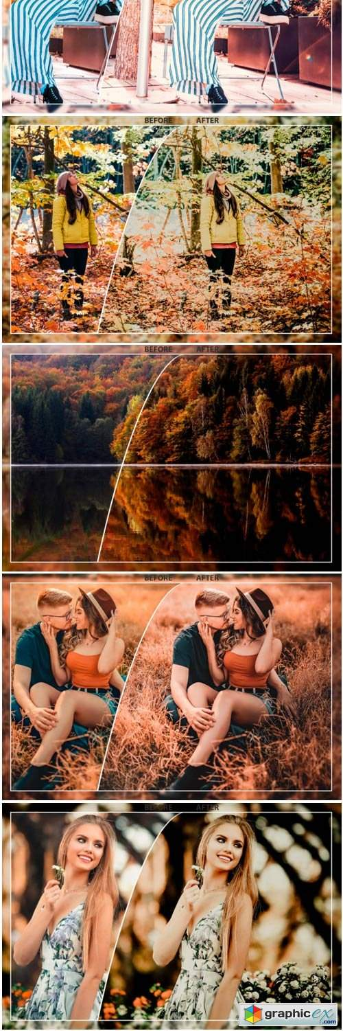 50 Autumn Mobile Lightroom Presets