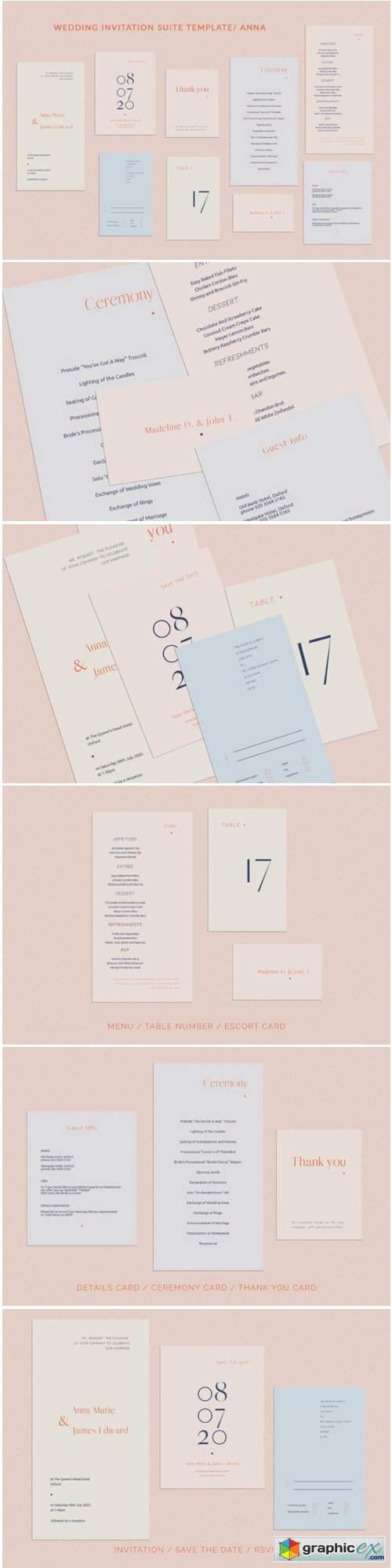 Anna Wedding Invitation Suite