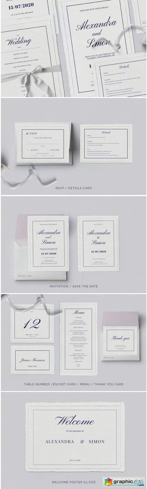This is an Invitation Wedding Template Suite