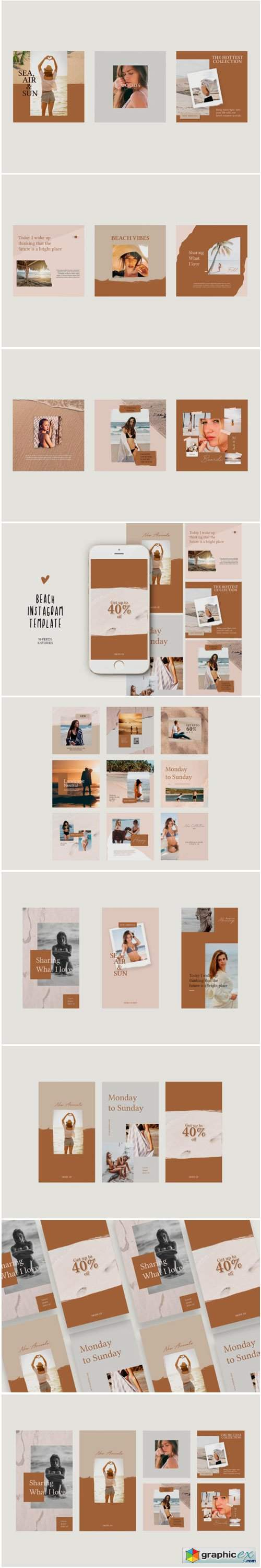 Beach Instagram Templates