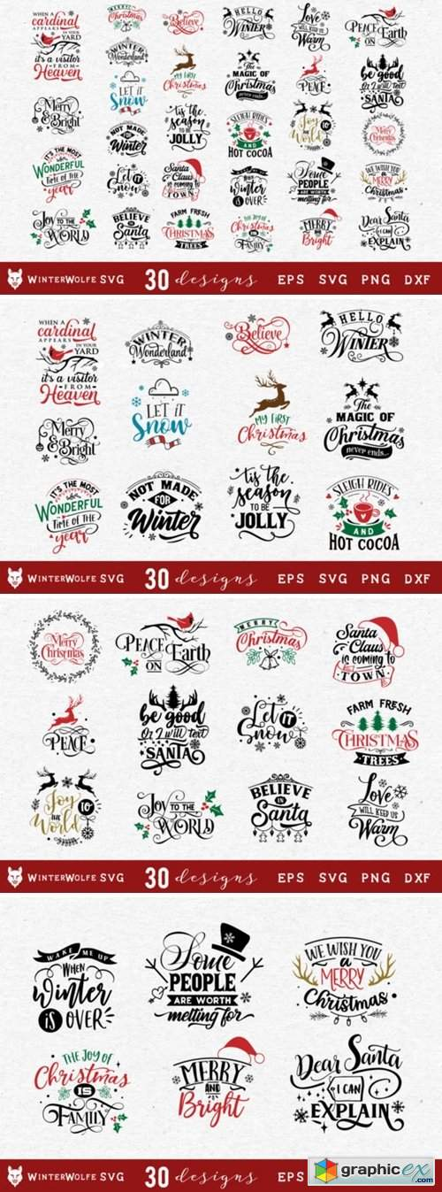 Christmas Bundle SVG 30 Designs