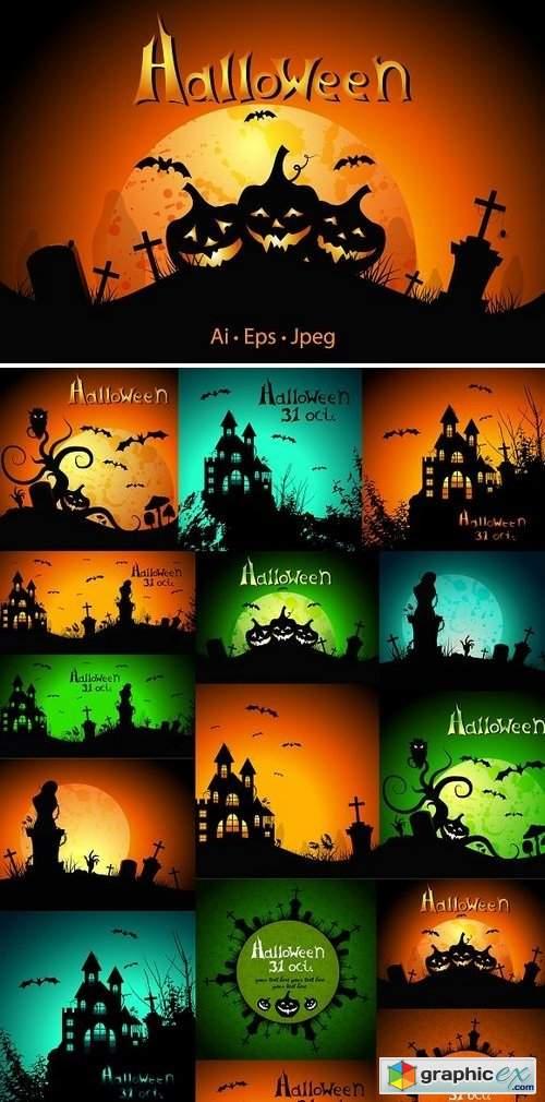 Halloween. Greeting cards
