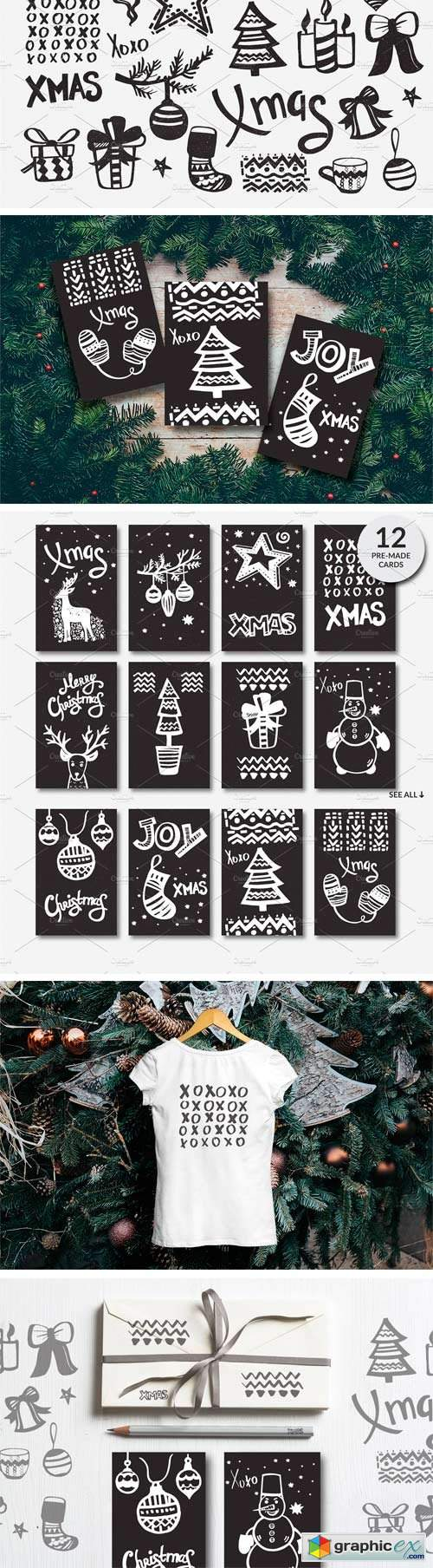 Handdraw Christmas Elements