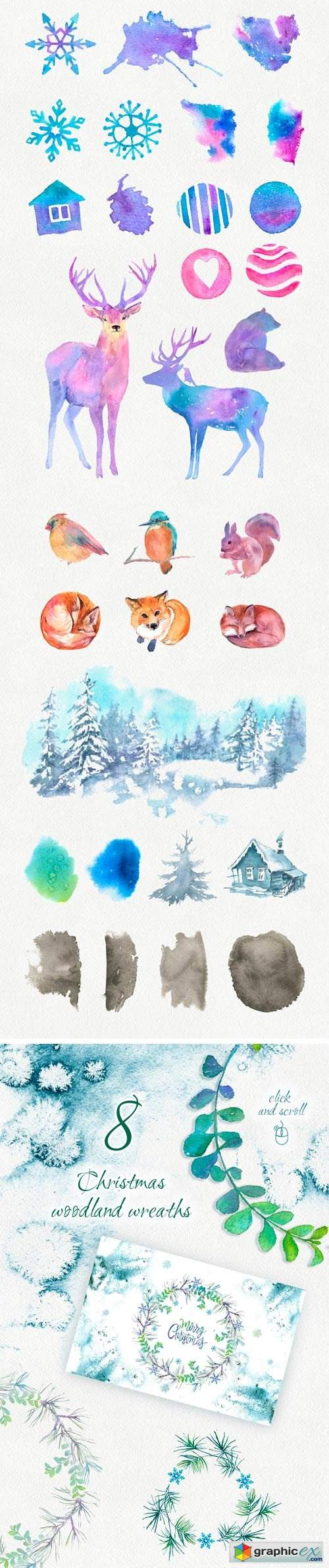 Merry Christmas Graphic Set. +10 PSD