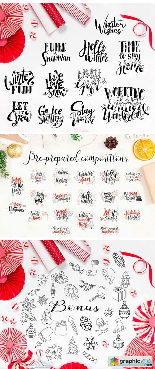 Christmas Lettering Kit-Overlays