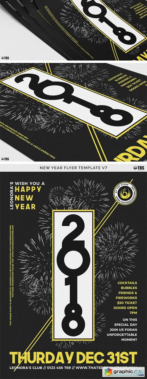 New Year Flyer Template V7 2008633