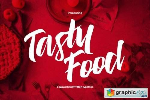 Tasty Food - Casual Handwritten Typeface » Free Download