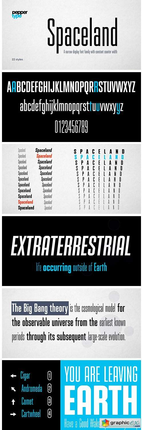 Spaceland Font Family