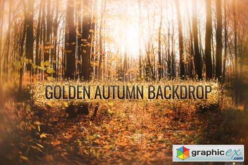 Autumn Golden Backdrop for Photographers