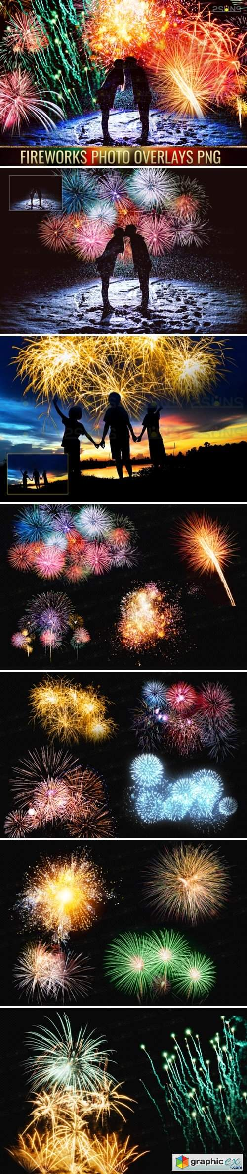 Holiday Fireworks Overlays Png Photoshop