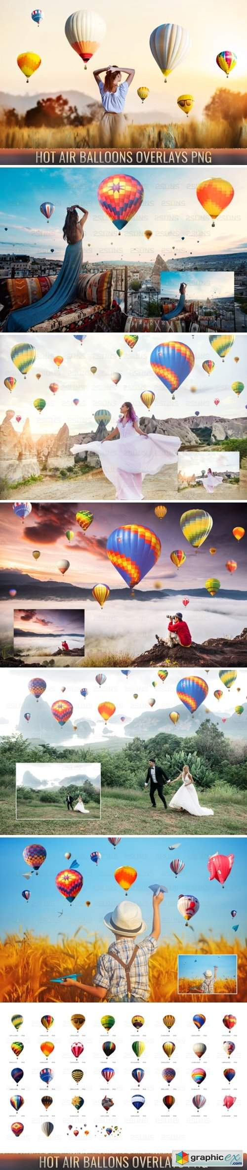 36 Hot Air Balloon Photo Overlays