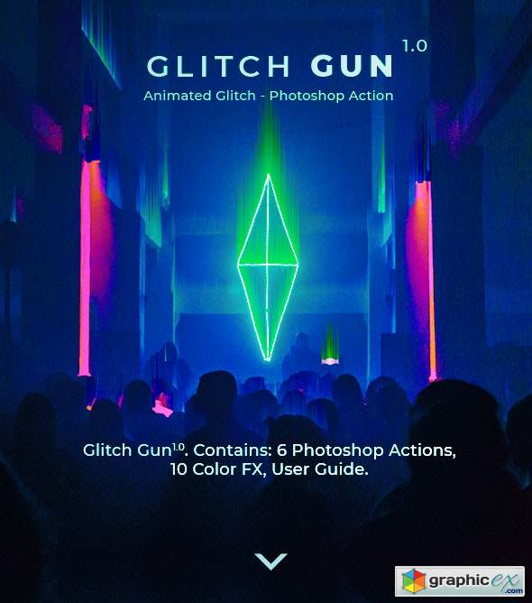 Glitch Gun - Animated Photoshop Action