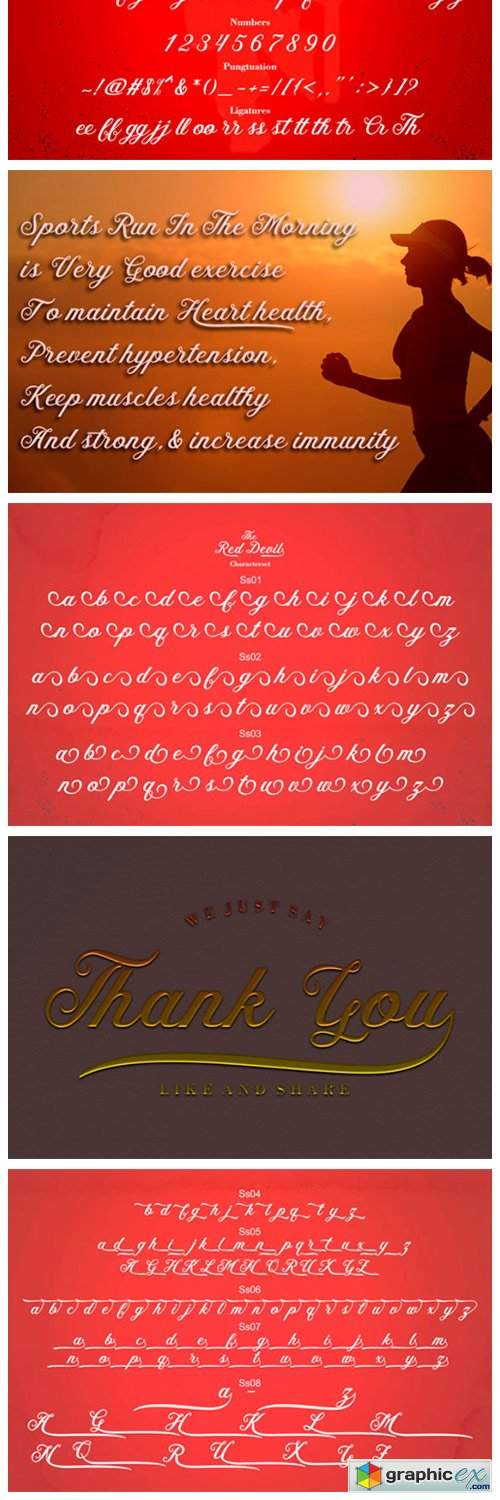 The Red Devil Font