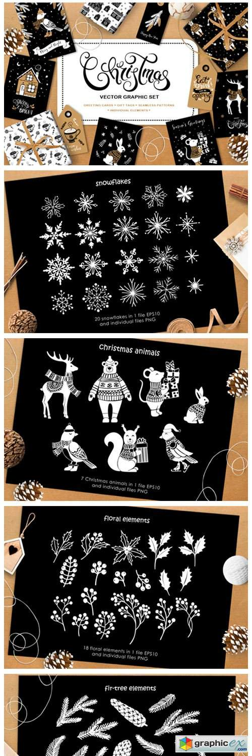 Christmas Vector Graphic Set