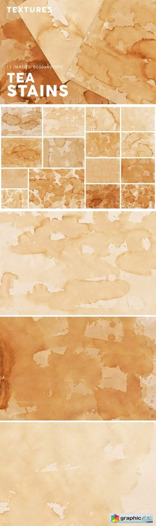 15 Tea Stain Paper Textures