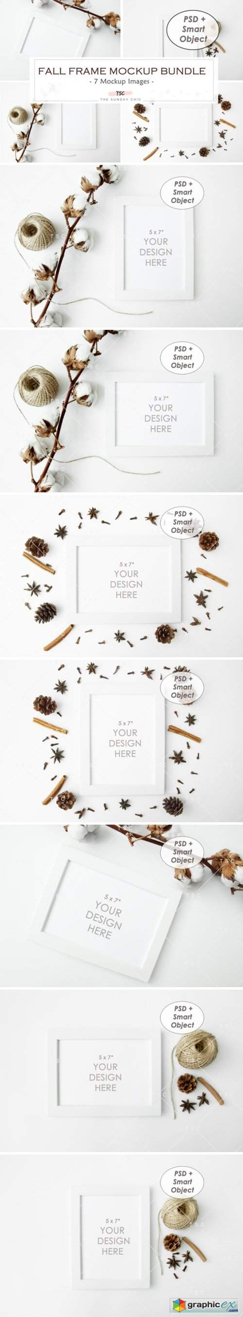 Fall Frame Mockup Bundle