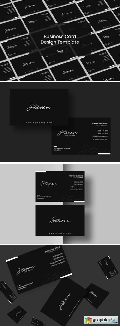 Business Card Design Template Vol. 1