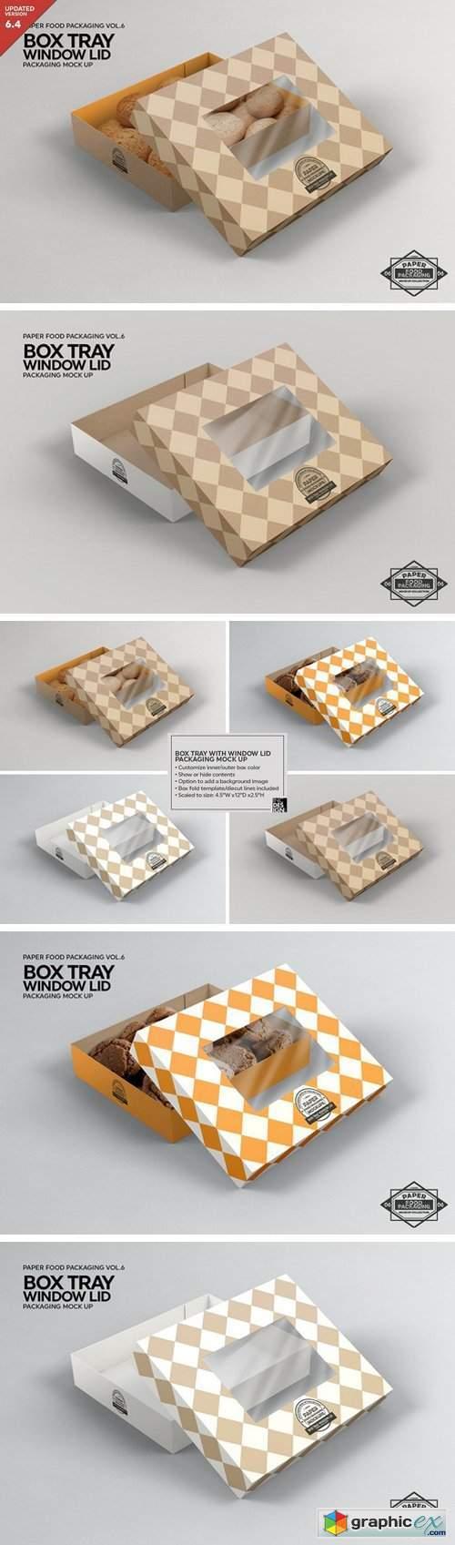 Box Tray Window Lid Packaging Mockup
