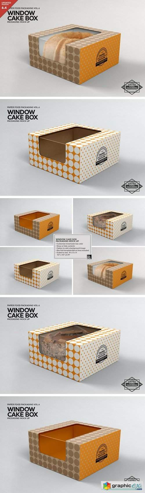Cake Window Box Packaging Mockup